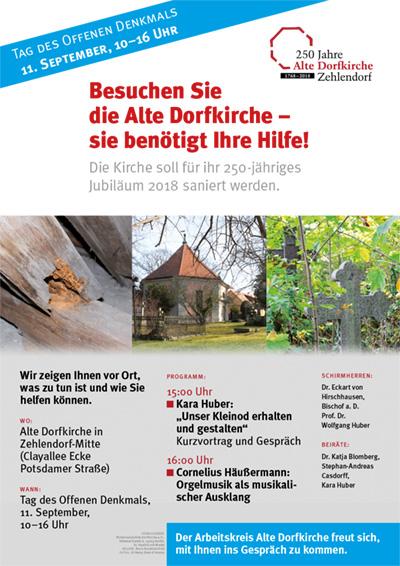 Tag des Offenen Denkmals, Sonntag, 11. September: Gemeinsam Denkmale erhalten!